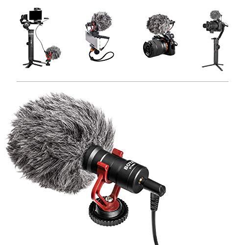 BOYA Micrófono de Video Tipo Pistola, Mini micrófono de grabación...