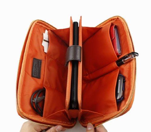 Custodia/Pochette Naamio per Tablet, iPad Mini/Mini Retina, Nexus 7 (2012/2013), Kobo Touch/Arc, Sony PRS-T1 da 7 pollici Custodia eReader & altri dispositivi – Cioccolato all'arancia