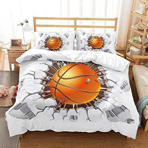 NYLIN Bettbezug genagelt Basketball 3D Co...
