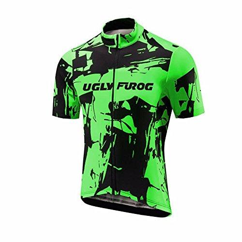Uglyfrog Designs -Camo Bunt Sport Radsport Trikots & Shirts Kurzarm Herren Sommer Stil Bekleidung Atmungsaktiv Top