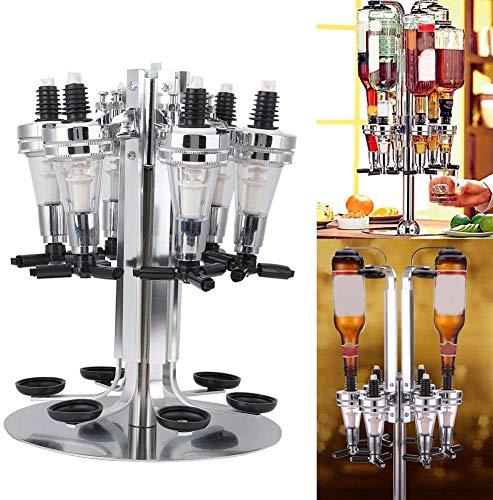 Liquor Dispenser,6 Bottle Shot Alcohol Dispenser Station Liquor Decanters Whiskey Alcohol Shot Beverage Bar Party