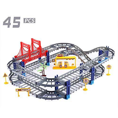 Auto's Tech Gebouw Sets Stad Super Voertuigen Ontwikkeling Speelgoed Racen Voor Voorschoolse Kinderen Creativiteit Leerzaam Blokken Bouw Het Leren Spellen,Gray rail car (color box)