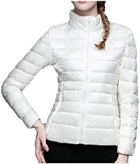 Howely Women's Lightweight Plus Size Solid Stand Neck Down Puffer Jacket