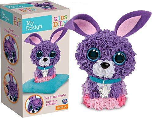 Orb Factory My Design 3D Rabbit Plush Toy (Multi-Colour)