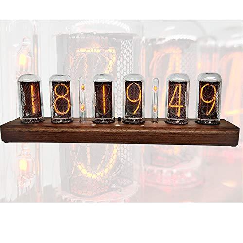 Nixie Tube Clock, Reloj de Tubo Digital Control de Bluetooth Cronometraje por Voz, Digital De Tubo Reloj Regalo de DecoracióN de Escritorio
