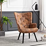 UHBGT Fabric Accent Chair Accent Lounge Chair Modern Living Room Accent Armchair Upholstered Arm Chair for Living Room Bedroom Reading Chair