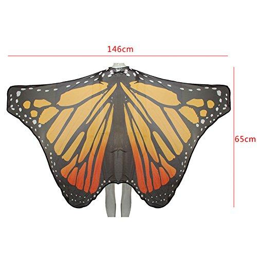 Ruick Chiffon Monarchs Vlinder Vleugels Sjaal Fee Dames Nymph Pixie Kostuum Accessoire Props