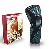 Vigo Sports® Anti Rutsch Kniebandage für Sport, Schmerzlinderung & Genesung – Optimale Knieschützer für Männer & Damen – Elastische Knieschoner für Volleyball, laufen & joggen (M)
