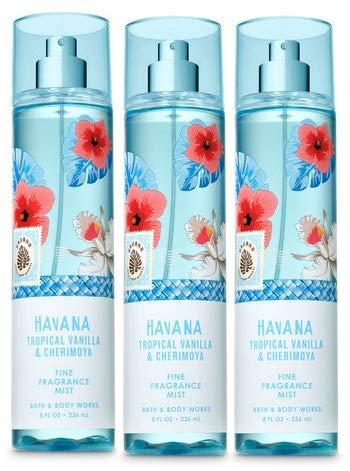 Bath and Body Works HAVANA Tropical Vanilla & Cherimoya Value Pack - Lot of 3 Fine Fragrance Mist - Full size