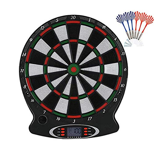 Sugarbig Electronic Dartboard,Soft Tip Dart Board Set LCD Display with 6 Darts,for Improved Durability and Playability and Micro-thin Segment Dividers for ReducedBounce-outs