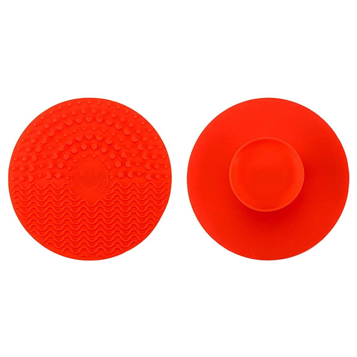 1Pcs Brush Cleaner Cleaning Mat Washing Scrubber Pad Silicone Makeup Brush Cleansing Pad Palette Cosmetic Make Up Cleaner Tools Red nvpjf6800
