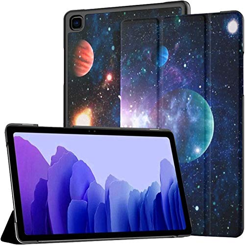 Funda Galaxy A7 Planets Stars Galaxies Estuche Que Muestra el Espacio Exterior para Samsung Galaxy Tab A7 10.4 Pulgadas 2020 Estuche Protector con Soporte Samsung A7 Estuche Tipo Folio Funda Funda de