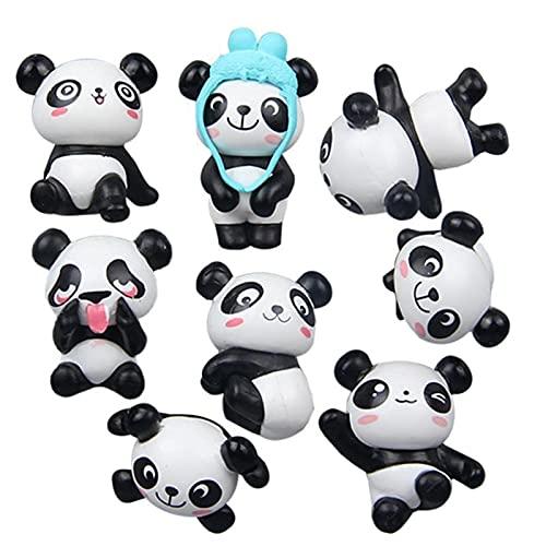 JJSCCMDZ Imán de refrigerador 8pcs imán de refrigerador Encantador Lindo Panda refrigerador imán de frigorífico decoración