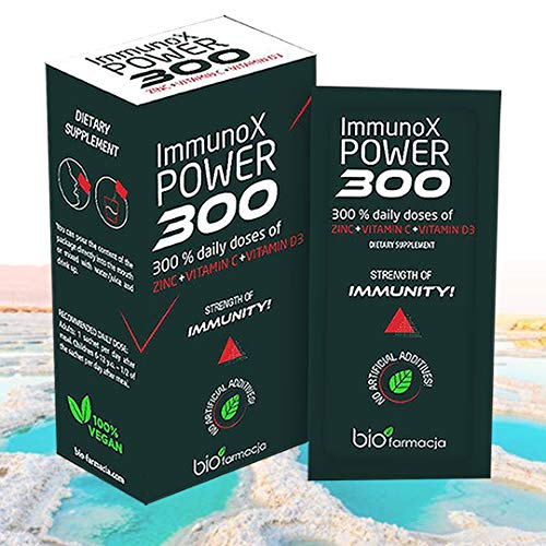 Immune Power Booster | Dried Acerola Fruit 1400 mg Including Vitamin C 240 mg + Zinc 30 mg | Strength of Immunity with 300% Daily doses Supplement | 14 sachets