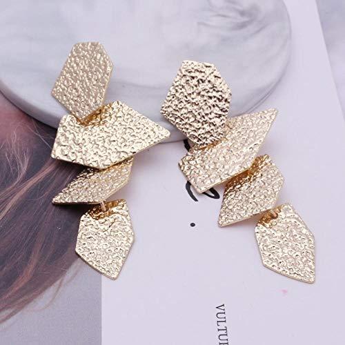 Erin Earring Pendientes De Gota De Hoja De Metal Geométrico Retro Pendiente De Forma De Piedra Rota Irregular Fiesta De Joyería