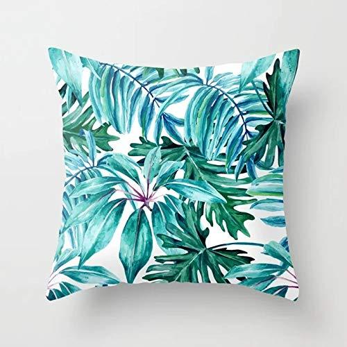 Tropical Throw Pillow Cover Flamingo Leaf Cactus Coconut Funda de cojín geométrica Funda de Almohada para sofá Funda de cojín A1 45x45cm 1pc