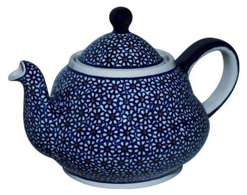 Original Bunzlauer Keramik Teekanne 2.0 Liter mit integriertem Sieb im Dekor 120