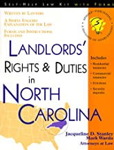 Landlords' Rights and Duties in North Carolina: With Forms (Self-Help Law Kit With Forms)