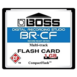 1GB Boss Roland BR-CF CompactFlash CF Memory Card for BR-600, BR-864, BR-900CD, MC-808 1 Lifetime warranty Protective jewel case Tested for sector integrity and chip functionality