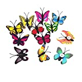 Nuobesty - 30 chinchetas mariposas decorativas para pared, pizarra blanca, para decoración de pared, scrapbooking, artesanía, bricolaje