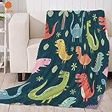 Decke Dinosaurier Cartoon Dicke Decke für Bett BeachTowel für KinderErwachsene Decke wirftBettlaken Travel Velvet Plüsch