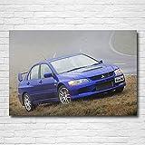 QZHSCYB Mitsubishi Lancer Evolution Classic Cars Papel Tapiz Impresión Pinturas Lienzo Arte de la Pared Póster para la decoración de la Sala de Estar -60X80cm 24x32 Pulgadas sin Marco