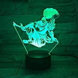 3D Nachtlicht League of Legends Yasuo Modell optical illusion Tischlampe LED Touch...