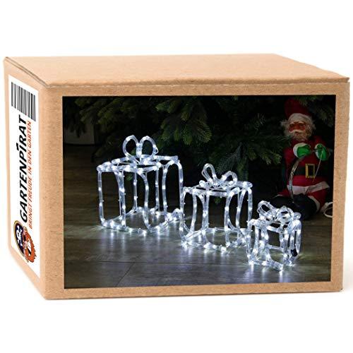 LED Geschenkbox Weihnachten leuchtend mit 180 LED kaltweiß zur Weihnachtsdekoration