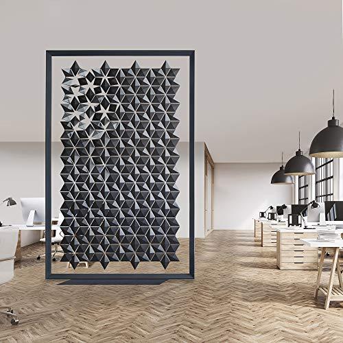 Buy Bargain Bloomming Freestanding Room Divider Facet - 66.9 x 101.6 (wxh) - Graphite