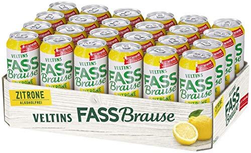 VELTINS Fassbrause Zitrone Alkoholfrei, EINWEG (24 x 0.5 l Dose)