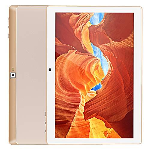 Tablet 10.1 Zoll,Android 9.0 Pie,2GB RAM,32GB eMMC,8MP Kamera Ander Rückseite,Quad-Core,1280x800 G+G IPS,Dual SIM,Bluetooth,Wi-Fi,GPS,Type-C (3G-Gold)