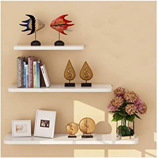 WUDENHOM White Shelf for Wall, Set of 3 Gift Halloween Decorations Wall Mount Wood Floating Decorative Long Shelves Photos Pops Candles Plants Display for Home Decoration(11.8,15.7,19.7Inch Long)