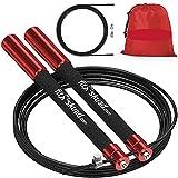 Speed Jump Rope - Premium Heavy Duty Adjustable Speed Rope- Lightweight, Solid Aluminum Handles &...