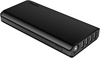 EasyAcc 26000mAh Power Bank(4A Input 4.8A Smart Output) External Battery Charger Portable Charger for Android Phone Samsung HTC Tablets - Black and Grey