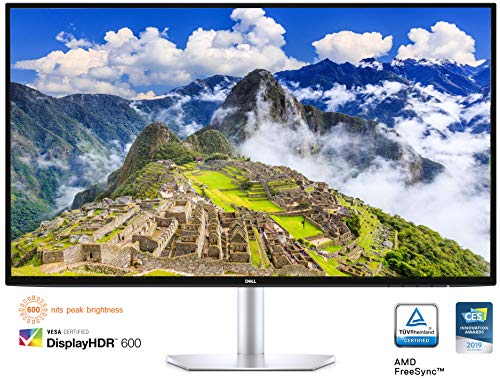 Dell S2719DC USB-C 27 Inch QHD (2560 x 1440) Monitor, 60 Hz, IPS, 5 ms, AMD FreeSync, InfinityEdge Bezel, 99% sRGB, HDR 600, USB Type-C, HDMI, 2x USB 3.0, 3 Years Warranty , Silver