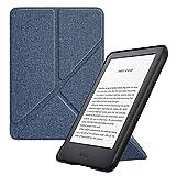 MoKo Funda Compatible con Kindle 10th Generation 2019 Release, Standing Origami Slim Shell Funda con Auto Sueño/Estela Compatible con Kindle 10th Generation 2019 Release - Mezclilla Índigo