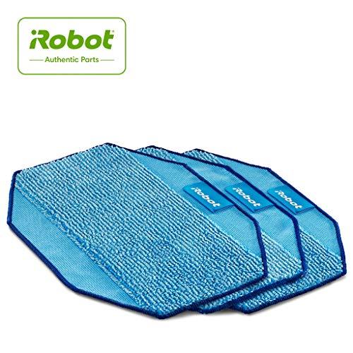iRobot Originalteile - Braava 300 Serie Mikrofaserreinigungstücher(3x) - Blau - Wiederverwendbar - Kompatibel mit Braava 300 Serie