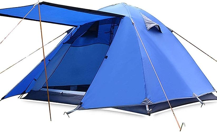 ZPBFQY FH Tente Extérieure, Double Tente Imperméable en Aluminium De Camping D'équipement De Camping De Personnes De 3-4 Personnes, 200 × 180 × 120cm