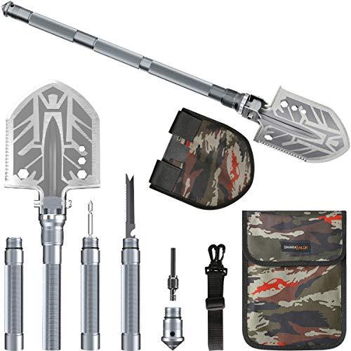 Sahara Sailor Survival Shovel, Unbreakable Tactical Shovel-180 Degree Folding Shovel-Camping Shovels - 23 in 1 Survival Shovel Multifunctional