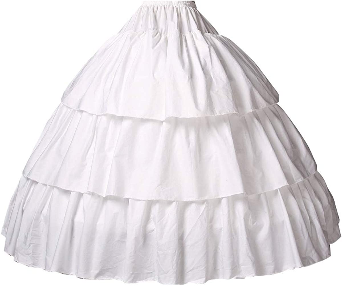 BEAUTELICATE Girls Hoop Petticoat 100% Cotton Crinoline Underskirt for Kids Flower Dress Slips Light Ivory