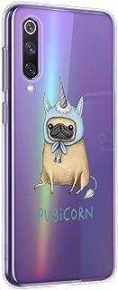 Suhctup Funda Compatible con Xiaomi Mi 8 Lite,Transparente Carcasa con Dibujos Animados TPU Silicona Protectora de Golpes Anti Choques Slim Case Cover Bumper para Mi 8 Lite(5)