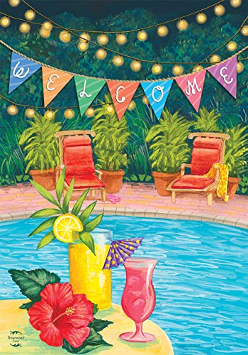 Briarwood Lane Poolside Paradise Summer House Flag Welcome Tropical 28' x 40'