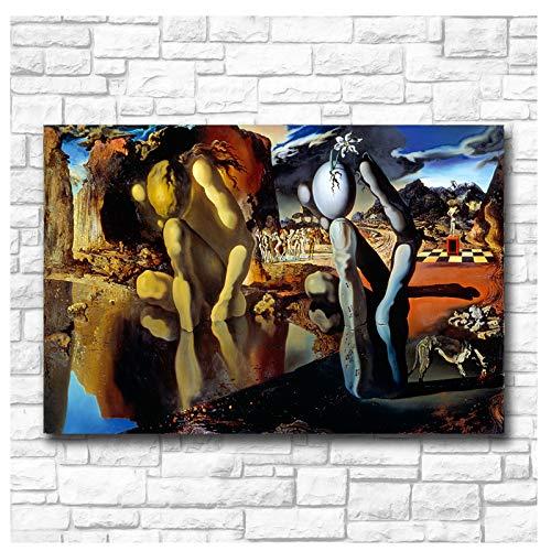 nr Arte de la Pared de Wxkoil La metamorfosis de Narciso Dali Pintura al óleo de la Pared Impresión Bonita Imagen de la Pared para la Sala de Estar -60x90cm sin Marco