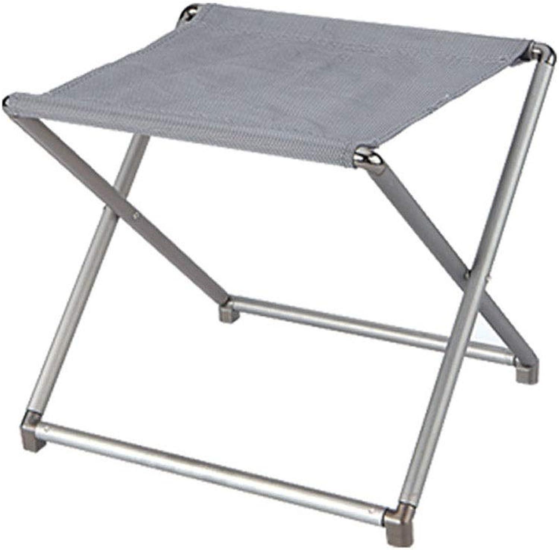 Outdoor Folding Stool, Portable Metal Mazar Stool Fishing Camping Driving Board Stool