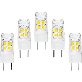 G8 Led Bulb 120v 2w 20w Halogen Replacement G8 Gy8 6 T4 Type Bi Pin Base For Under Counter Kitchen Lighting Daylight White 5packs Amazon Com