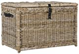 happimess Michael 35' Wicker Storage Trunk, Natural