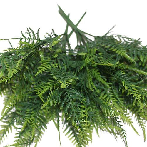 ypypiaol 35 Hojas De Emulación Artificial Espárrago Helecho Arbusto Verde Decoración De Fiesta De Follaje 1#