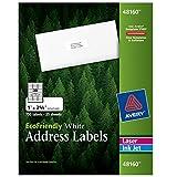Avery White EcoFriendly Address Labels, 1 x 2.625 Inches, Box of 750 (48160)