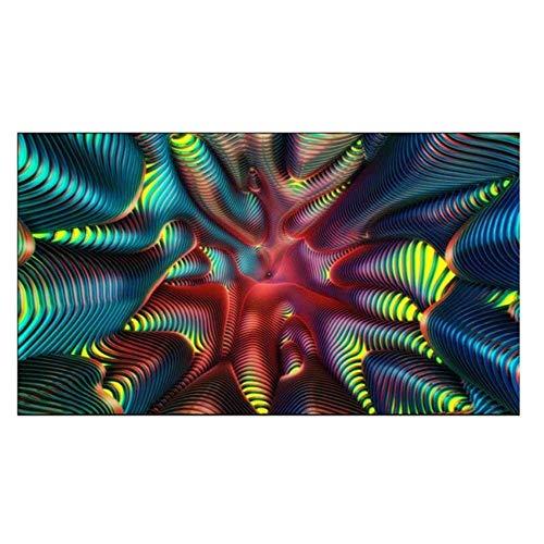 WERT Tapiz Abstracto Colgante de Pared Manta de Arte Simple Tela de Fondo Blanco Decoración del hogar para Sala de Estar Dormitorio Toalla de Playa A9 150x130cm