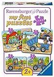 Ravensburger Kinderpuzzle-I miei Veicoli da Cantiere Preferiti, Colore Giallo, 06946